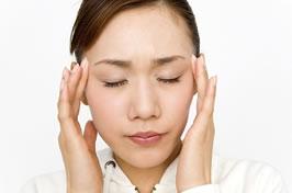 片頭痛のイメージ
